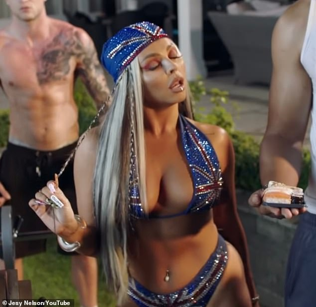 One to watch:Singer Jesy, 30, - who left the girl group last December due to her mental health- has finally dropped her long-awaited debut solo single Boyz featuring Nicki Minaj and Diddy