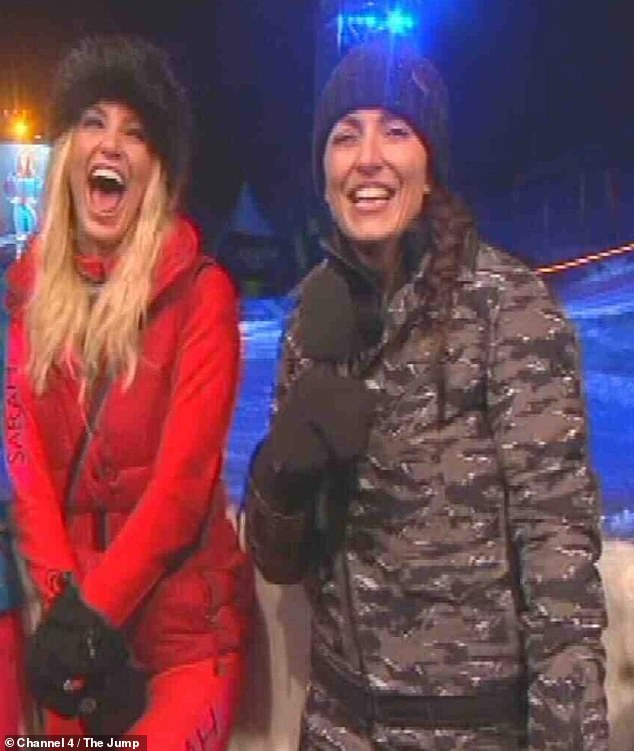 Happy: They went to work together in 2016 on the sports reality show The Jump, where Davina said the contestant had 'so good fun', which was 'the saddest thing' (pictured in 2016)