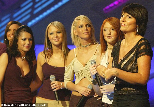 Throwback: The Popstars: The Rivals host met The Promise hitmaker in 2002 when she auditioned to be part of the band, which would later be called Girls Aloud (LR Nadine Coyle, Cheryl Tweedy, Kimberly Walsh, Sarah, Nicola Roberts) Name given.  Davina in 2002)