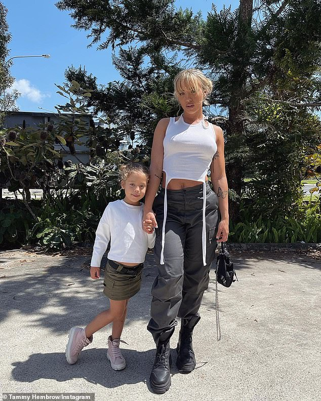 So grown up!Tammy Hembrow is reflecting on how grown up her five-year-old daughter Saskia is