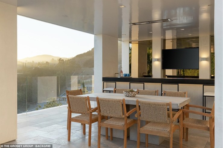 Unique in design:He previously bought a $20.5 million mansion in Bel-Air, which he also recently sold