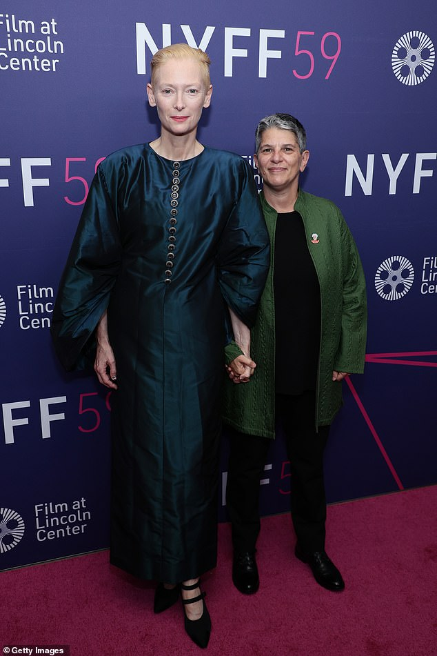 Festival leader: The Oscar winner, who collaborated with director Pedro Almodóvar last year, was joined by Film at Lincoln Center Executive DirectorLesli Klainberg