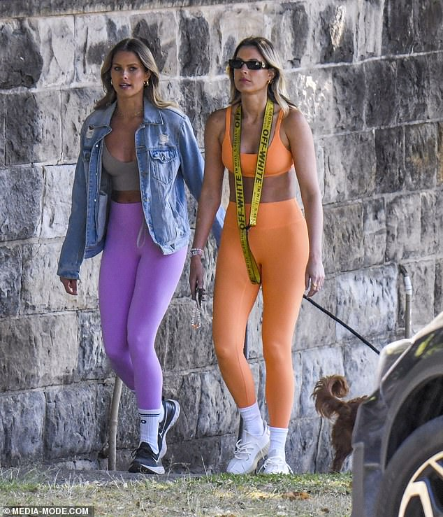 Model walk: Natalie Roser and Laura Dundovic flaunted their incredibly fit figures in colourful activewear as they stepped out for a stroll in Sydney on Friday