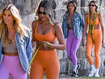 Natalie Roser and Laura Dundovic flaunt their fit figures while out for a stroll in Sydney