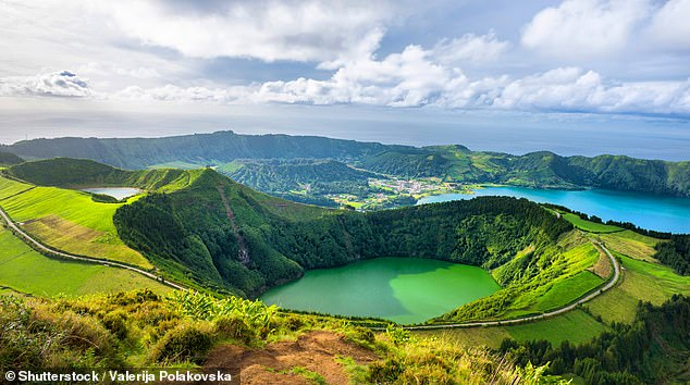 Pictured is Sao Miguel Island in the Azores - the Portuguese islands are ideal forwinter hiking and cycling
