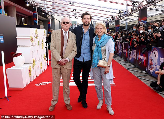 SWEET: Jack Whitehall brings his parents to the premiere of Ron Gone Wrong at The Royal Albert Hall on Saturday