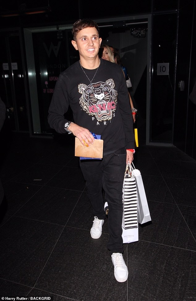 Birthday Boy: Gary Lineker's son George Lineker (pictured) celebrated his milestone 30th birthday on Friday night with a star-studded bash at the W London Hotel in Soho.