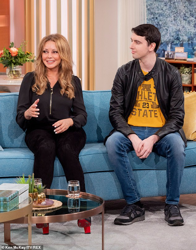 Candid appearance: Carol recently appeared alongside her son Cameron King, 24, on This Morning, where they spoke candidly about Cameron's special educational needs