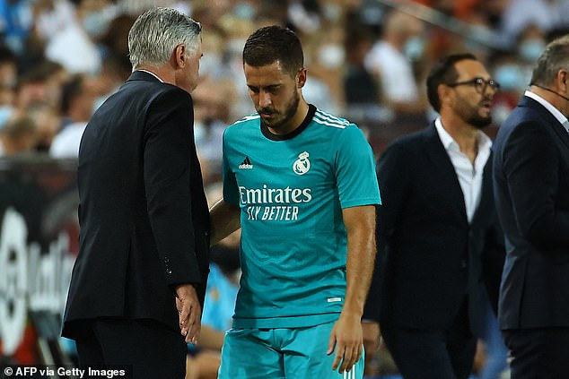 Hazard has had a toughs start under Carlo Ancelotti but has continued to come off the bench