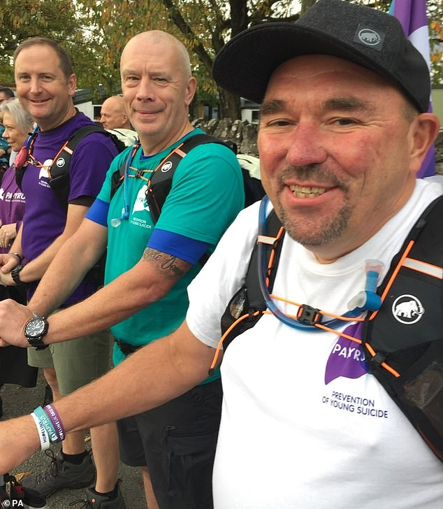 3 Dads Walking: Tim Owen from Norfolk, Mike Palmer from Greater Manchester and Andy Airey from Cumbria say the donation from Daniel Craig was a welcome surprise