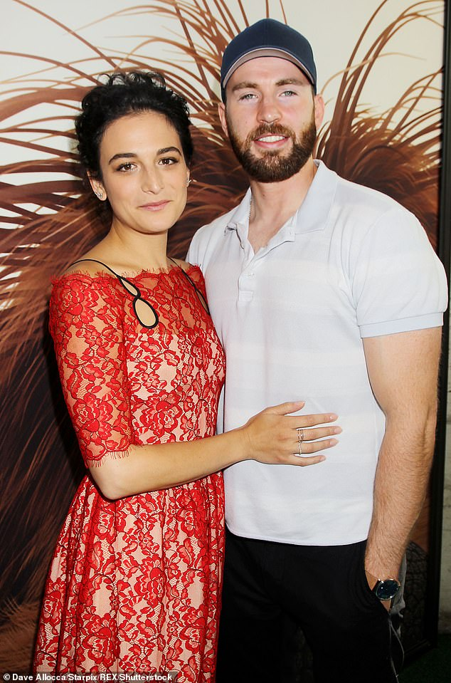 Love on set: Chris dated his Gifted co-star Jenny Slate on and off from 2016 to 2018. Seen in 2016