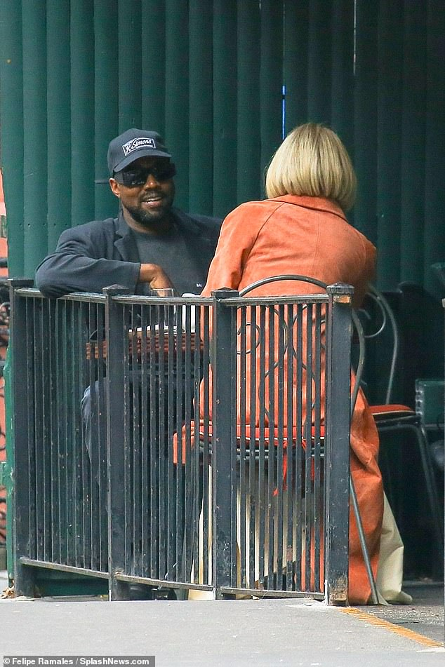Something brewing? The Donda rapper tried to go incognito as he met with Anna Wintour at Sant Ambroeus in the West Village shortly after meeting with Trump fixer Michael Cohen