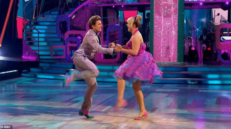 Here we go!Tilly and Nikita then performed a jive to the Hairspray sound track and scored 27 after mixed comments from the judges