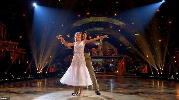 Beauty:Rose and her partner Giovanni were next to perform a Foxtrot to the soundtrack from the film Titanic