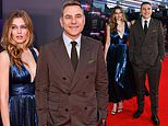 David Walliams and 'friend' Keeley Hazell put on tactile display at premiere of Last Night in Soho