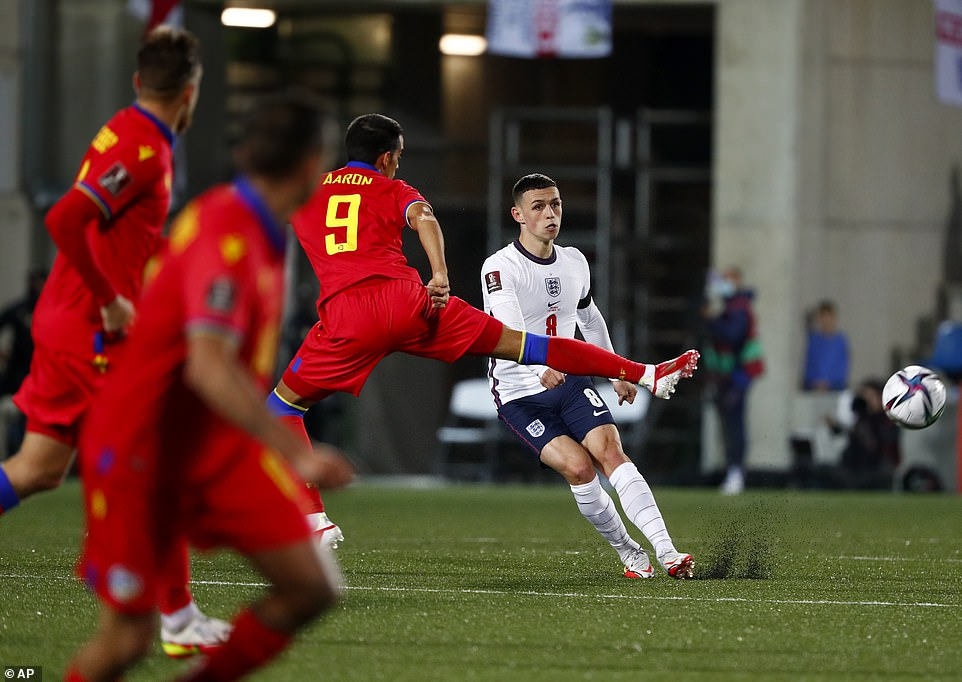 Foden ran the show from midfield, enjoying the space as Andorra sat deep. His dipping balls into the box were always a threat