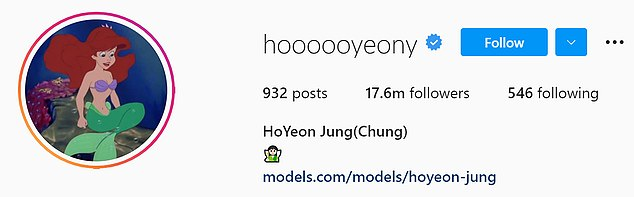 Seoul-bornHoYeon hasgained a staggering 17 million followers on Instagram in one week to make her Korea's most followed actress