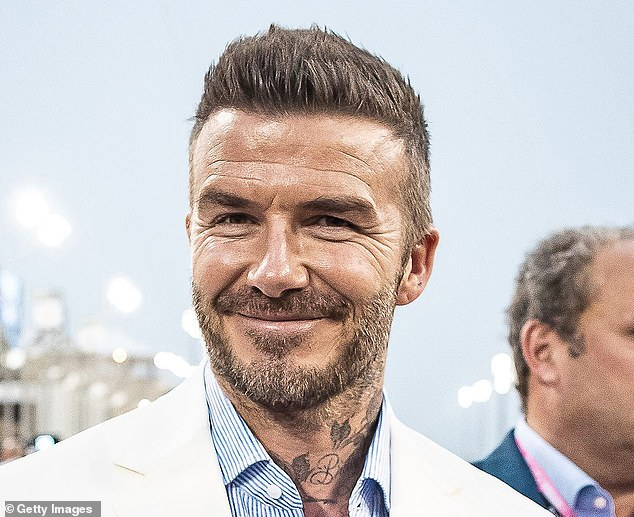 A spokesman for the former England football captain declined to comment, although a friend insisted that he had not undergone any cosmetic surgery. He is pictured in March 2019