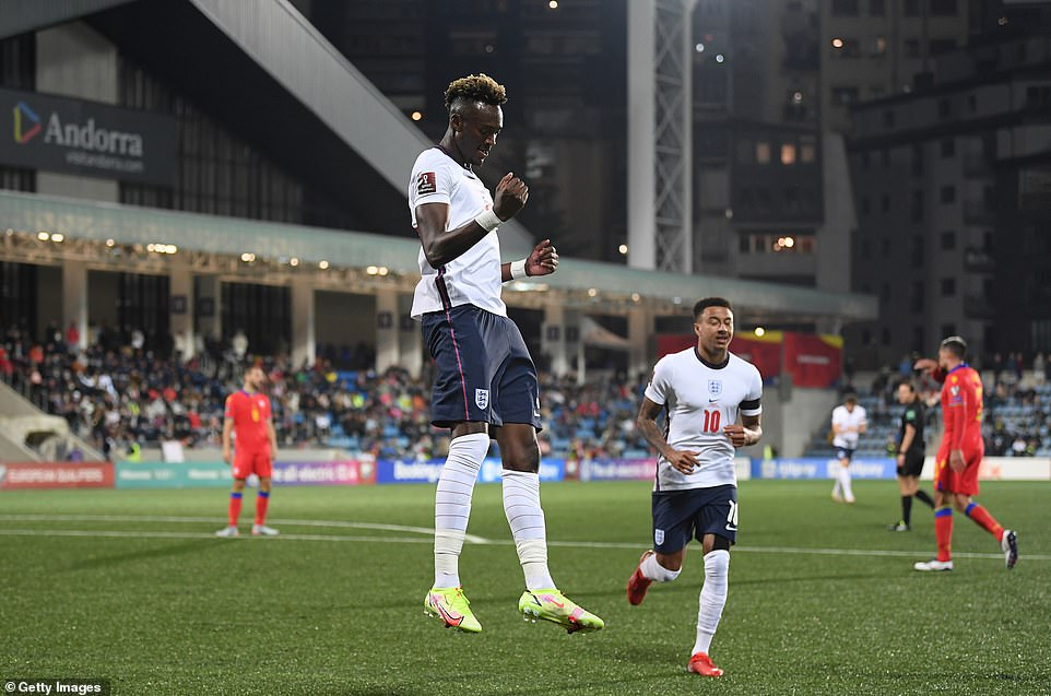 The striker made an impact for the Three Lions after falling out of favour at Chelsea, dinking unmarked past the keeper