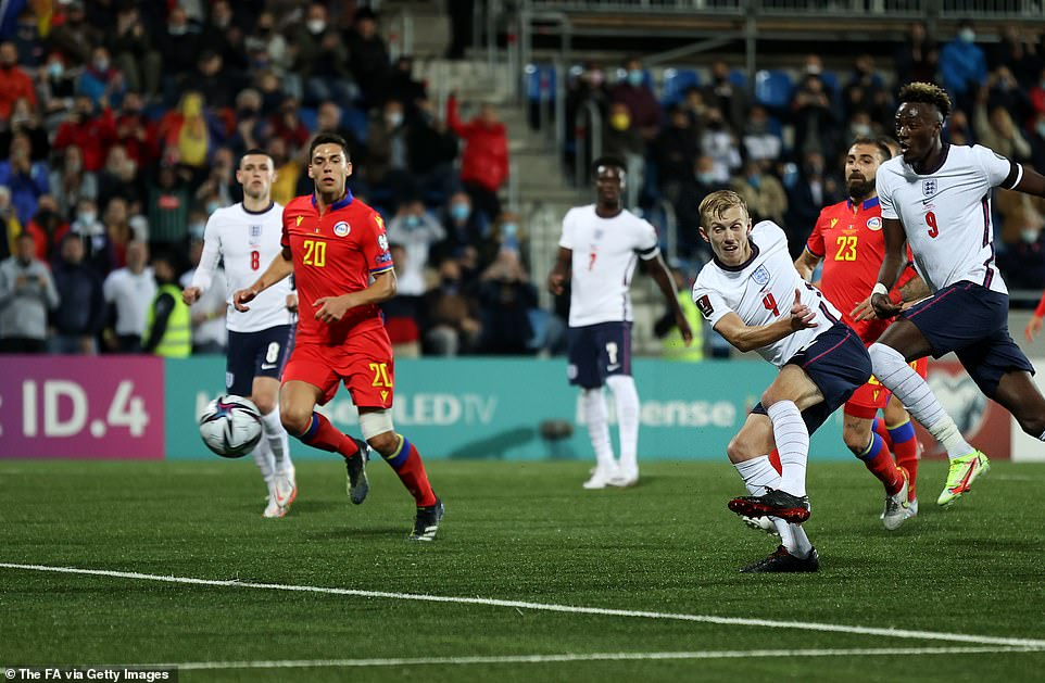 James Ward-Prowse's initial strike was saved down to the keeper's right but the midfielder was ruthless with the follow-up