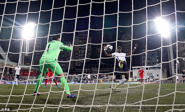 Abraham was set up by Jadon Sancho for his goal againstAndorra on Saturday night
