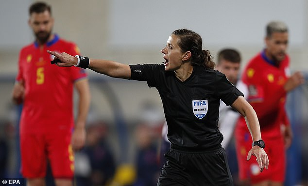 Kateryna Monzul, the first female referee to officiate England, have a tough job on her hands