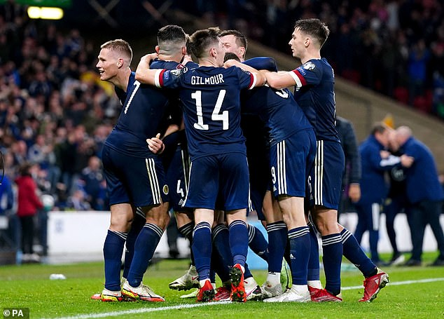 One for the history books!The clip showed Martin cheering with joy alongside supporters at the stadium after seeing Scotland seal a 3-2 victory in the dying minutes