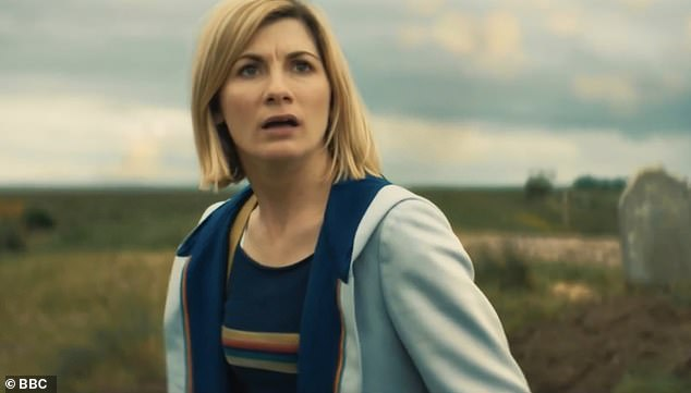 Goodbye: Chris and Jodie (pictured) announced that they will be leaving Doctor Who in a trio of specials, culminating in an epic blockbuster special to air in Autumn 2022 as part of the BBC's Centenary Celebrations.