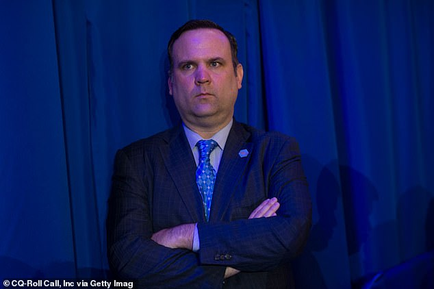 A process server brought the subpoena for Dan Scavino (pictured) to Mar-a-Lago, and although the former Trump aide was home in New York, he asked a staffer to accept it for him