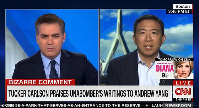 , CNN anchor Jim Acosta rips into Andrew Yang for going on 'bad person' Tucker Carlson's show, The Evepost National News