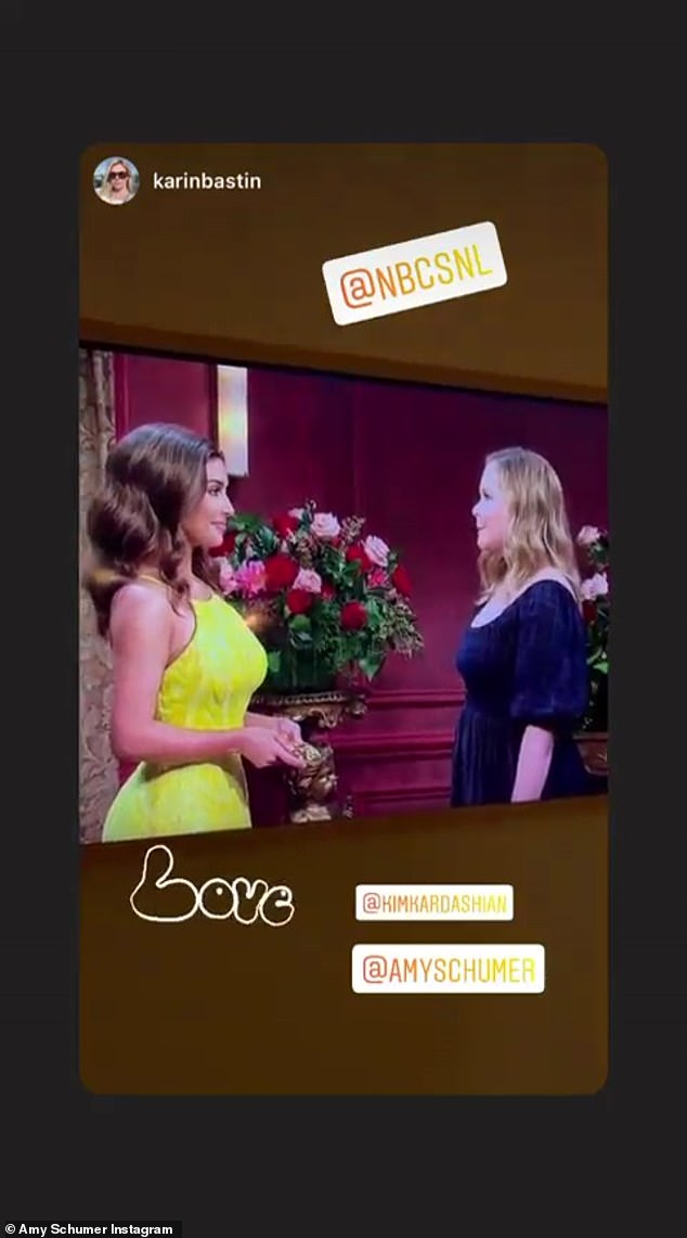 Iconic:Amy Schumer, who made a hilarious cameo in a skit parodying The Bachelorette, reshared a clip of her and Kim's moment on air with her Instagram following