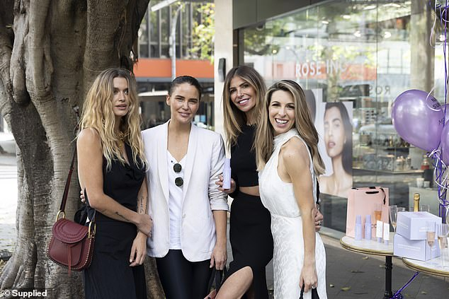 Creation:Samantha (far right) recently told Daily Mail Australia about her venture, saying she wanted to create the products after watching her colleagues have skin cancers removed from their face
