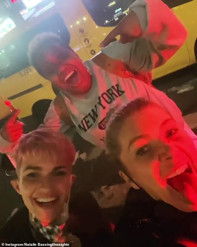 Vocal: Ruby Rose SLAMMED Steve Price for his 'mean' comments after he accused her of 'flaunting her freedom' with Natalie Bassingthwaighte in New York while Aussies are in lockdown. Natalie (right) shared footage of herself and Ruby (left) to Instagram on Saturday