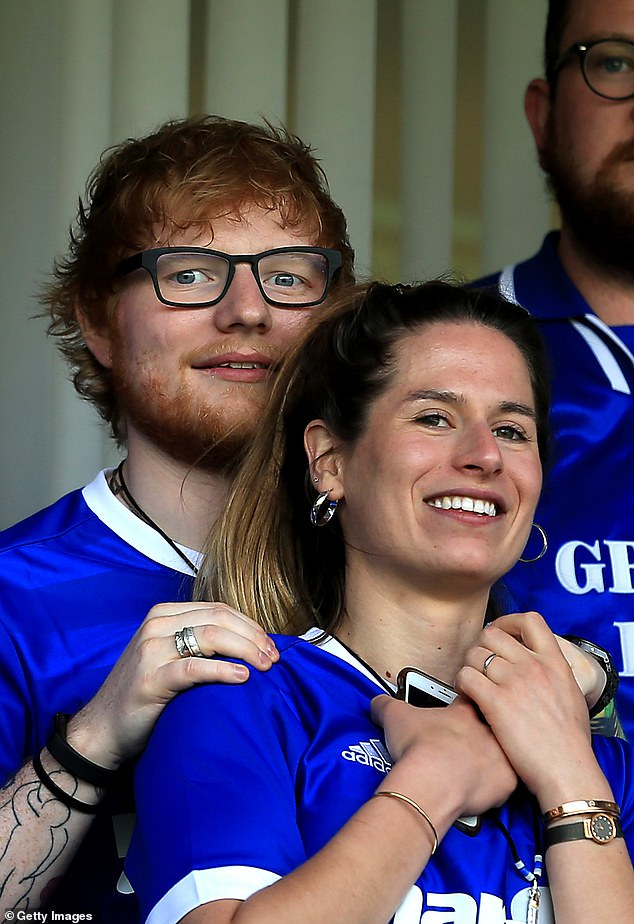 Family:Ed lives on his £3.7million estate, dubbed 'Sheeranville', with wife Cherry Seaborn, 29 (pictured) and their daughter Lyra, 13 months