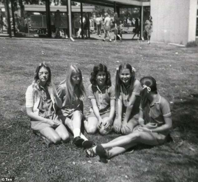 Difficult: Lisa was a 15-year-old school girl when she experienced the assault. She is pictured with her friends as a teenager
