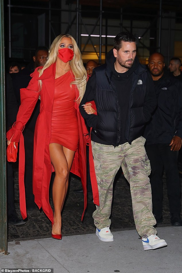 , Khloe Kardashian SMOULDERS in a red leather minidress as she arrives to SNL afterparty, The Habari News New York