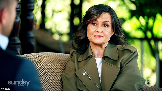 Emotional: Lisa Wilkinson (pictured), 61, fought back tears as she revealed on The Sunday Project how she felt 'humiliated, betrayed and pathetic' when she was dismissed from Nine and the Today show in October 2017 over a reported gender pay gap dispute