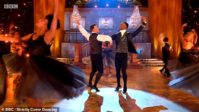 Opening number:The love story of the performance saw Johannes portray a young king with no one to dance with before Kai stepped in to waltz him around the dancefloor