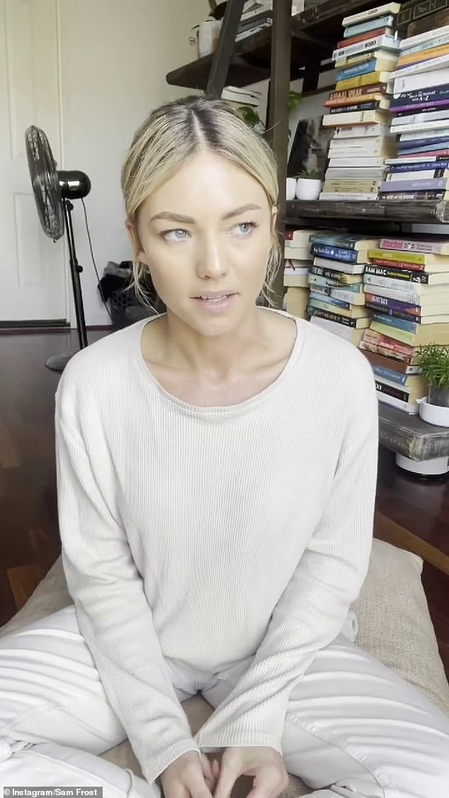 Confession:Sam deactivated her Instagram account on Saturday afternoon, after revealing in an emotional video that she was unvaccinated and her mental health had suffered as a result