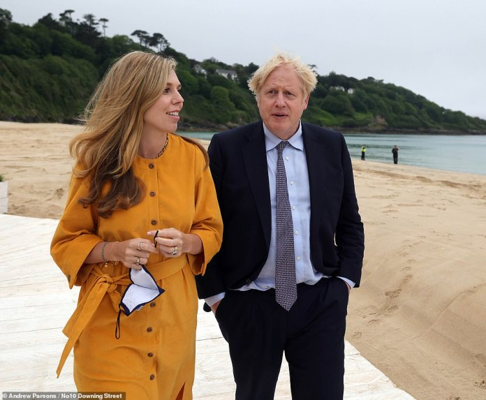 The Prime Minister has flown to Marbella with his pregnant wife Carrie and their 17-month-old son Wilf, who is enjoying his first foreign break
