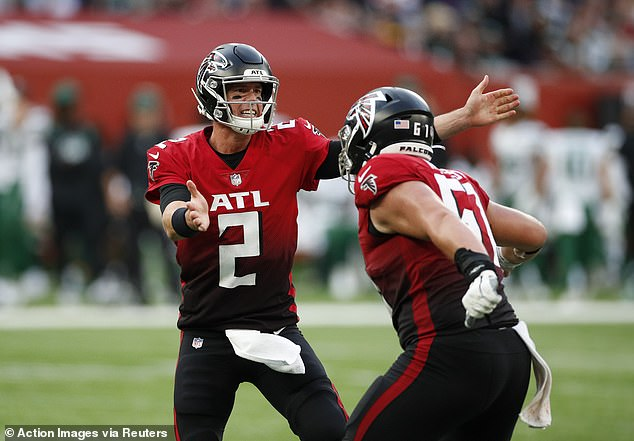 The Atlanta Falcons flew into a first-quarter lead on Sunday and never looked back