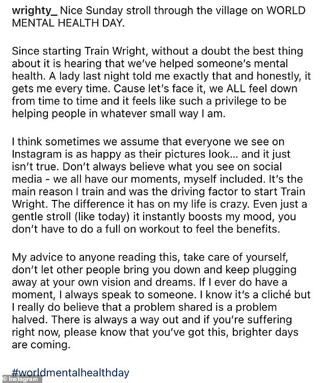 Motivational: He wrote a long caption along with his snap, urging fans to be open about his struggles