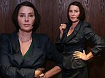 Sadie Frost exudes sartorial chic in a sophisticated navy skirt suit