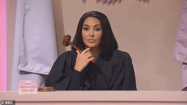 Shots fired: Kim tried to embody the Poosh founder by way of her typically unenthused voice