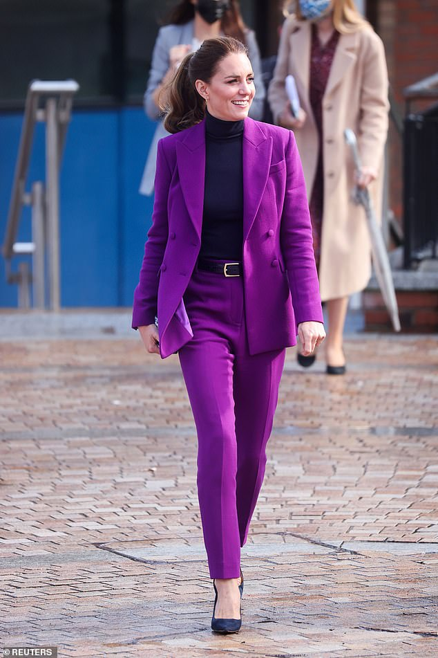 Katherine's condition - hyperemesis gravidarum - 'is not like morning sickness as you feel sick all day', she said, explaining to Kate Middleton [pictured] it's also