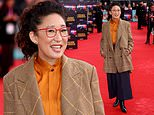Sandra Oh goes for preppy chic at The French Dispatch London premiere