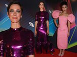Rebecca Hall attends the premiere of Passing at the London Film Festival with Ruth Negga