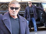 Sylvester Stallone enjoys a break from filming The Expendables 4 in London
