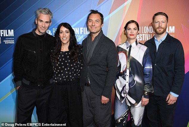 Crew: (L-R) Tristain Goligher, Harry Wootliff, Jude Law, Ruth Wilson and Ben Jackson