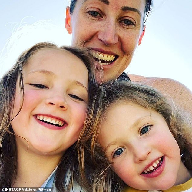 Mixed family:Two of Jana's children, daughters Emily, six, and Jemima, four, were born via IVF and through an anonymous sperm donor